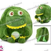 Детский рюкзак Мистер Динозавр, мягкая игрушка, регулируются лямки, на молнии