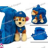Детский рюкзак Щенячий патруль, мягкая игрушка, удобная спинка, регулируеміе лямки, Гонщик