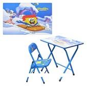 Детская столик-парта DT 18-3 со стульчиком Спанч Боб