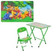 Детский складной столик DT 18-13 со стульчиком Винни Пух
