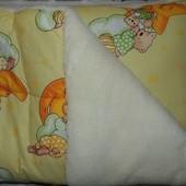 Зимние тёплые одеяло и подушка в кроватку