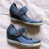 Джинсовые туфли - кеды
