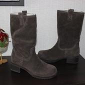 36 23cм Janet D Замшевые сапоги на меху демисезон ботинки