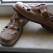 Мужские босоножки, 40 размер, стелька 26 см, бренд Walker. Натуральная кожа.