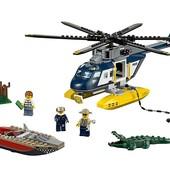 Lego City Погоня на полицейском вертолете 60067 police helicopter pursuit