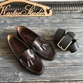 Туфли лоферы с кисточками M&S р-р 39-40