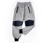 8-13л Джоггеры брюки спорт с экокожей Waxmen двунитка 140,152.158