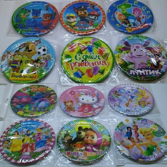 Тематическая праздничная детская посуда и декор фото №1