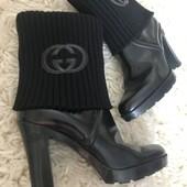Ботинки сапожки Gucci оригинал р.39-39,5