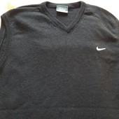 Жилетка фирменная Nike 100%шерсть р.50
