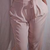 штанишки цвета пудры от Boohoo  L с завышеной талией