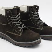 Женские зимние ботинки, нубук