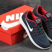 Кроссовки мужские сетка Nike Free RN dark blue