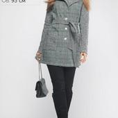 (519) Женское Пальто Бриджит Зеленое