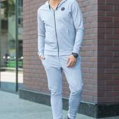 Мужской спортивный костюм 1504 серый