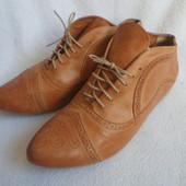 Manfield кожаные оригинальные ботинки 41
