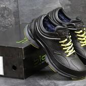 Зимние кроссовки Ecco Biom black/yellow