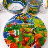 Детский набор посуды Черепашки-Ниндзя ,3 предмета