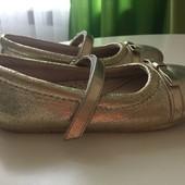 Туфли золотистые Pediped