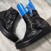 Кожаные ботинки р.40