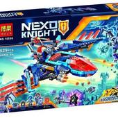 """Конструктор bela 10596 nexo knight (аналог lego 70351) """"самолет-истребитель сокол клэя"""", 529 деталей"""