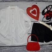 7 - 8 лет 128 см Рубашка блузка блуза для модниц легкая натуральная Зара Zara