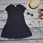6 - 8 лет 122 - 128 см H&M Прикольное натуральное летнее платье сарафан сердечки