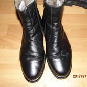 (i234)зимние кожаные полусапожки на цыгейке 44-45 UK 10,5 Sioux