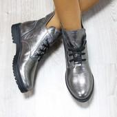 Женские демисезонные ботинки на шнуровке