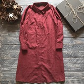 Идеальная рубашка платье Бургунди р-р Л