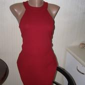 Boohoo платье винного цвета 12-размер