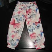 классные лёгенькие штаны 3-4 года 100% вискоза отл.состояние эксклюзивный рисунок.