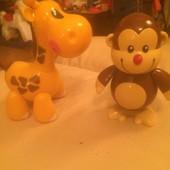 Игрушки Тоlo : жираф и обезьяна  , бу