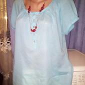 Нежная хлопковая блузка на пышные формы уп15 в отличном состоянии