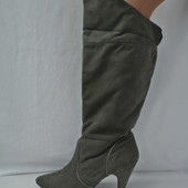 Модные демисезонные сапоги New Look из искусственного замша. Размер 38(полный).