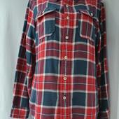 Фирменна мужская рубашка в клеточку Размер М
