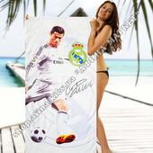 Пляжное полотенце Реал Мадрид Рональдо микрофибра 70*140 см (2338)