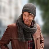 Зимняя шапка на флисе Тсм Чибо. Германия.  50 % шерсть, размер 48-56
