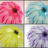 Детский подростковый прозрачный зонт трость для девочки/девушки Цветок