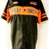 Новая (Сток) фирменная черная рубашка Harley-Davidson на пуговицах. Размер L