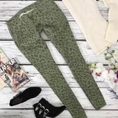 Молодежные джинсы-скинни низкой посадки с леопардовым принтом  PN4013