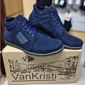 Ботинки мужские зимние на меху Van Kristi KN 940