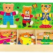 Набор вкладышей «Три медведя», Руди Д164у