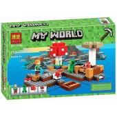 Конструктор Bela Minecraft 10619 Грибной Остров, 253 дет.