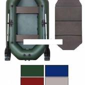 Лодка надувная гребная Kolibri К-280CТ цветная или комбинированная и слань-книжка
