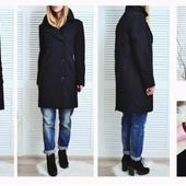 Двубортное шерстяное пальто, размер: S,М!