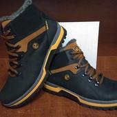 Ecco biom мужские зимние кожаные ботинки