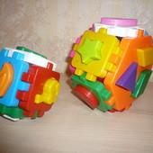 Умный малыш куб технок 2 штуки в комплекте сортер конструктор