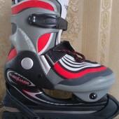 Ледовые коньки B-Square 31-33 размер. раздвижные. Новые. Би-Скваре. хоккейные.