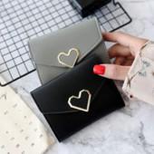 Стильный компактный кошелек, черный, новый